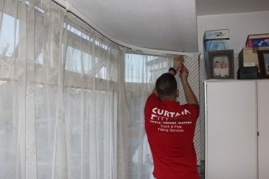 curtain track installation