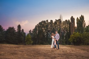 Vibrantly colored sunset by Kirkland family photographer