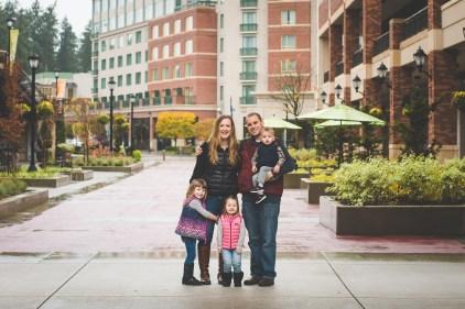 Redmond family photographer at Redmond Town Center