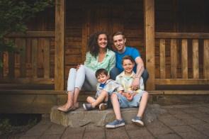 Bellevue family photographer at Lake Larsen Blueberry Farm cabin