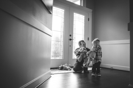 A young boy and his father, photo taken by a Seattle Family Photographer