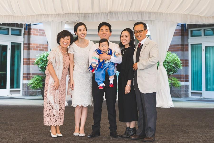 Posed family portrait