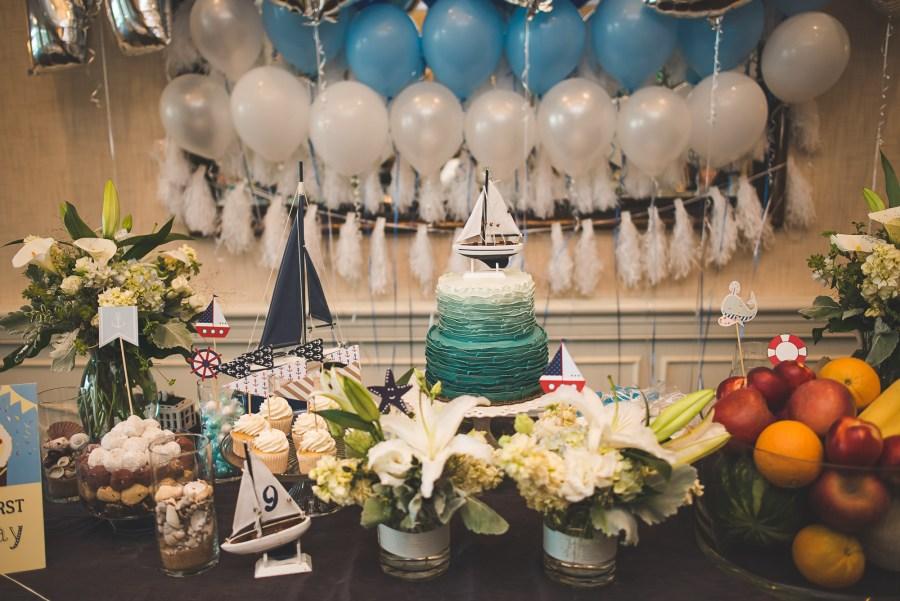 Birthday party decorations theme Sailboat