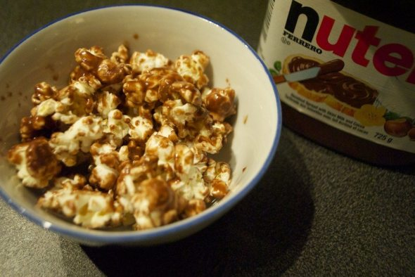 nutella popcorn