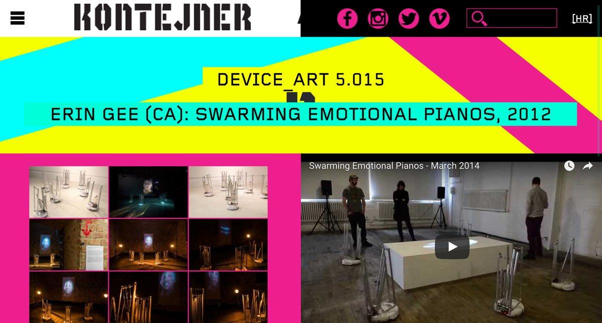 Erin Gee - Live at Kontejner's Device_art Triennale