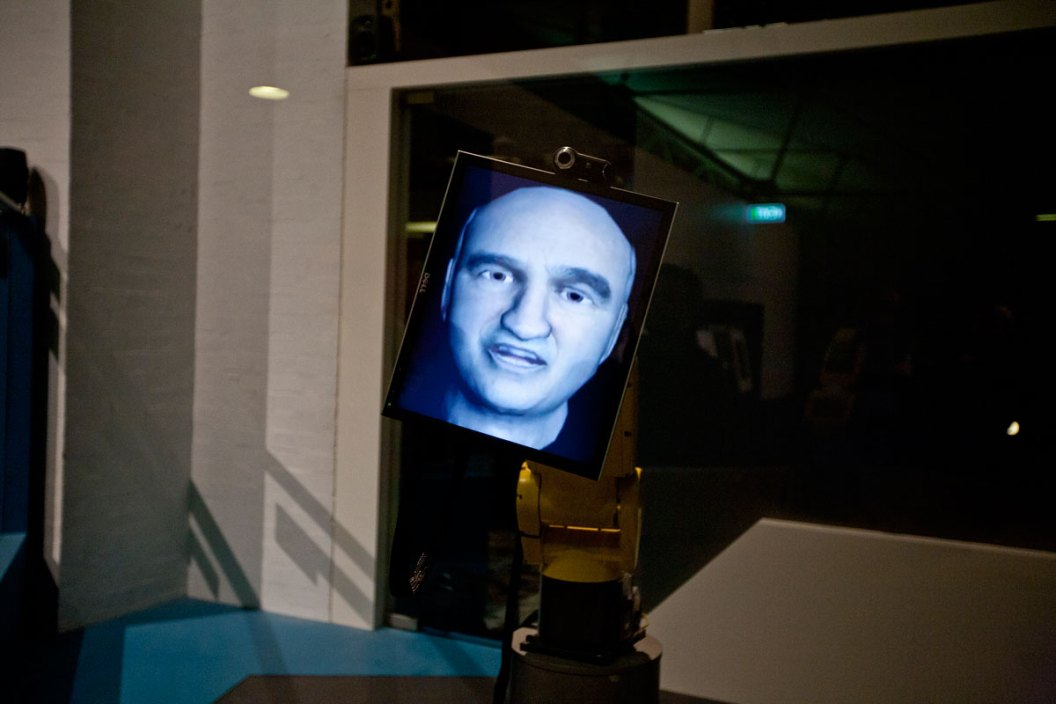 Photo by Jayne Ion, courtesy of Ultimo Science Festival. Erin Gee and Stelarc - Orpheux Larynx