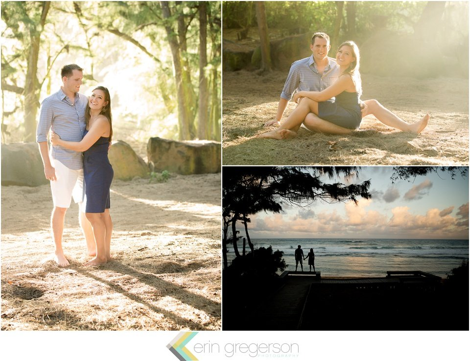 Kauai Anniversary photos in beautiful light on the beach by Erin Gregerson Photography