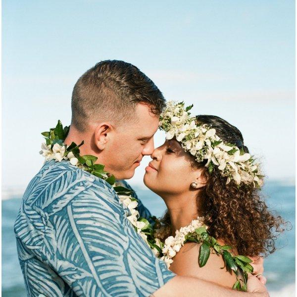Bride and Groom Kauai Wedding