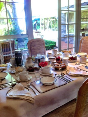 Breakfast in the consevatory. Havelock House.