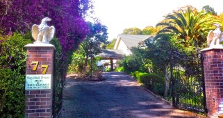 Entrance to our B&B Havelock North