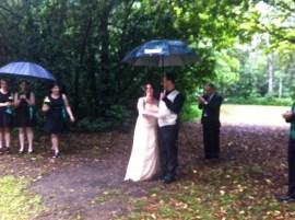 Man & Wife in the rain