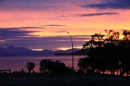 Pink skies over taupo