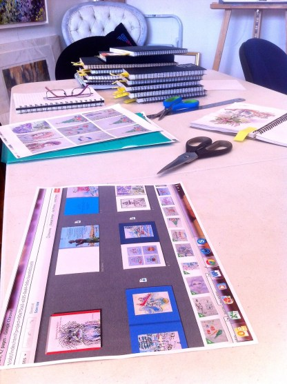 A printout of the online Blurb layout