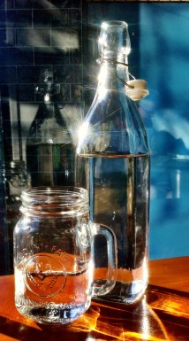 Jam jars for drinking water
