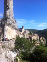 Looking down over Minerve