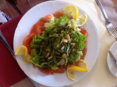Simple Salmon Salade, Caunes