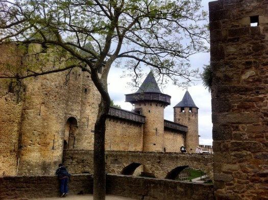 Turrets and towers Old Cite Carcassonne