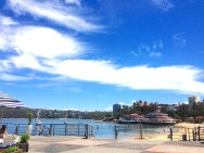 Tuesday. Blue skies Manly wharf