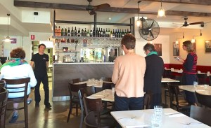 Friday. Bar at De Vita Italian
