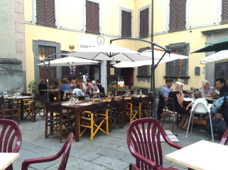 Thursday. Dining in Barga