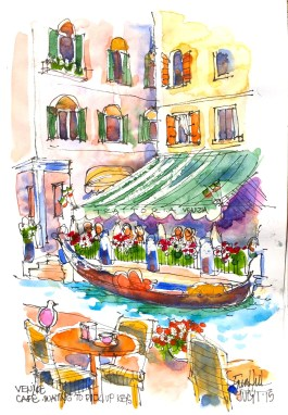 Venice. St Romo cfe by canal