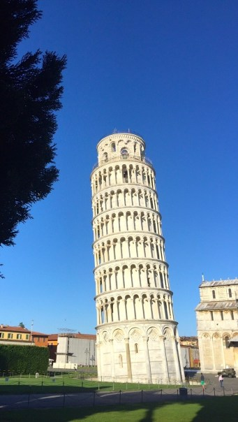 Wednesday. The leaning tower