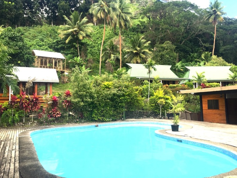 Sunday Fiji. Across the pool Daku Resort