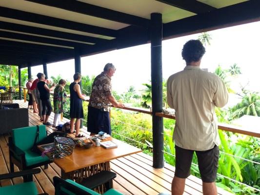 Tuesday Fiji. Top deck view
