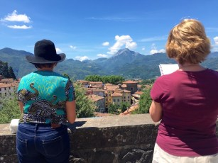 Top of Barga town