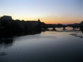 Sunset on the Arno River