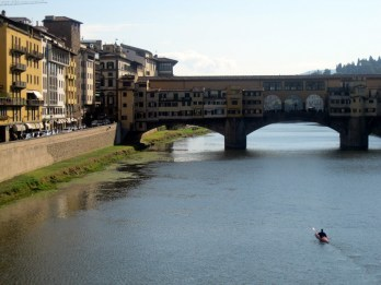 Kayaker on Arno River