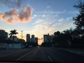 Sunset over Fort Lauderdale