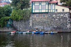 Abandoned boats in Prague