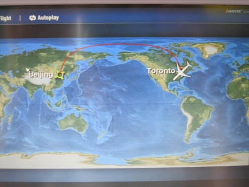 Map on the plane of our journey