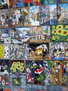 Outdoor market paintings for sale