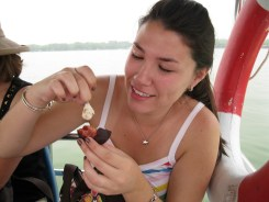 Boat Ride in the Summer Palace - Eating a fresh lychee