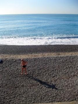 Nice, France beach goer