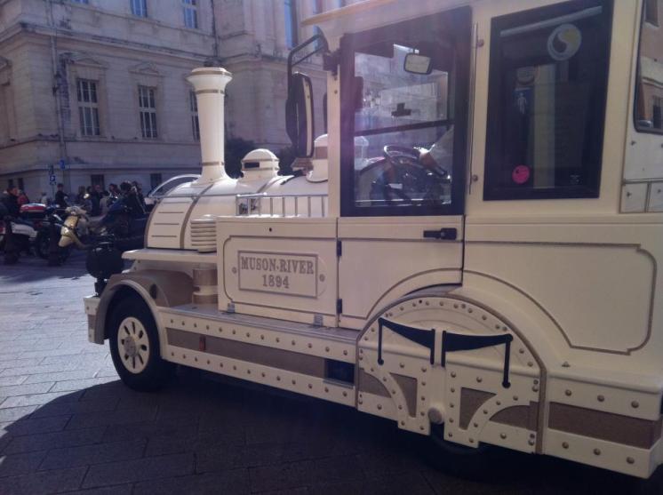 Train in Nice, France