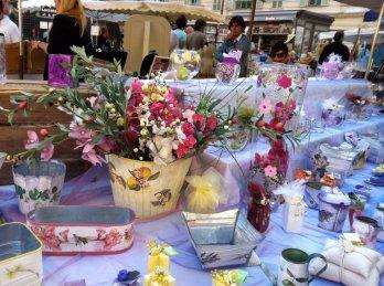 Saturday Flower Market in Nice, France