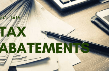 let's talk: TAX ABATEMENTS