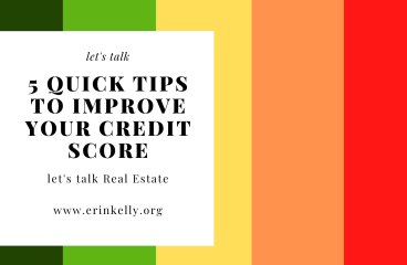 let's talk: 5 QUICK TIPS TO IMPROVE YOUR CREDIT SCORE