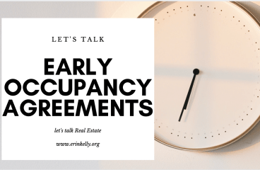let's talk : EARLY OCCUPANCY AGREEMENTS