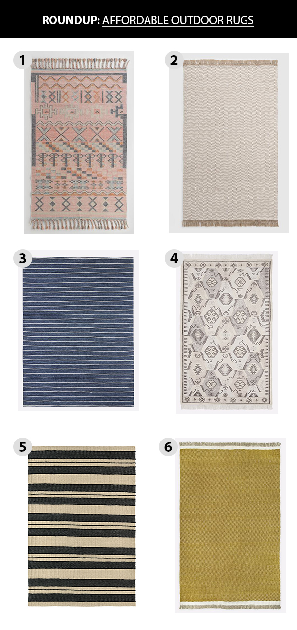 Affordable outdoor rug roundup