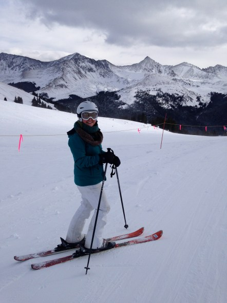 skiing with Christen 1