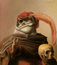 Toad With A Skull