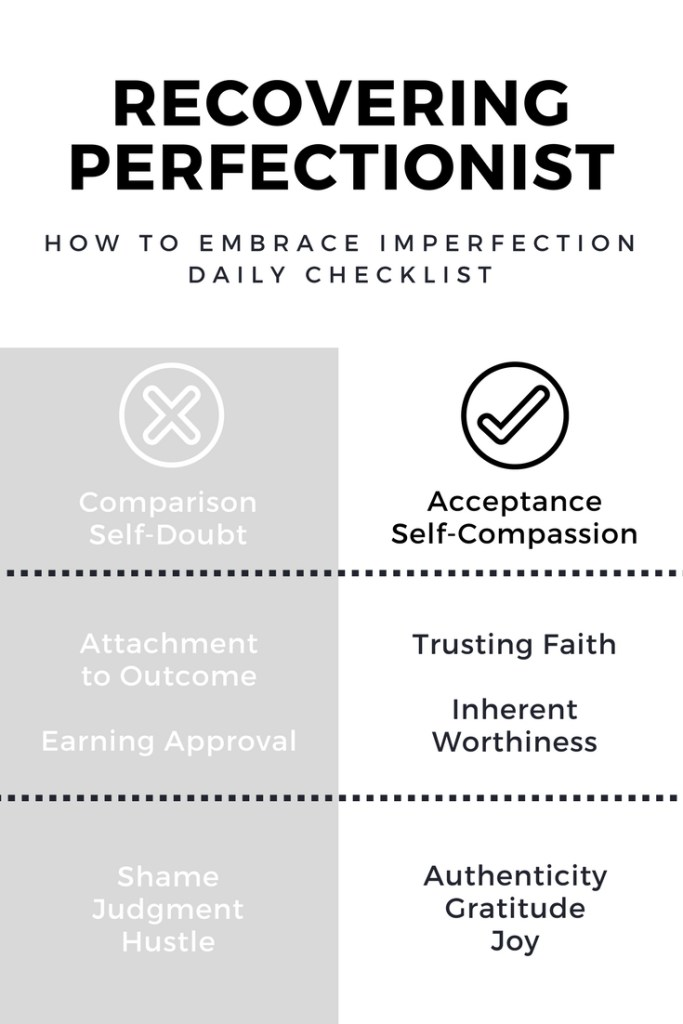 How to Embrace Imperfection Daily Checklist