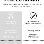 Confessions of a recovering perfectionist. How to Embrace Imperfection Daily Checklist.