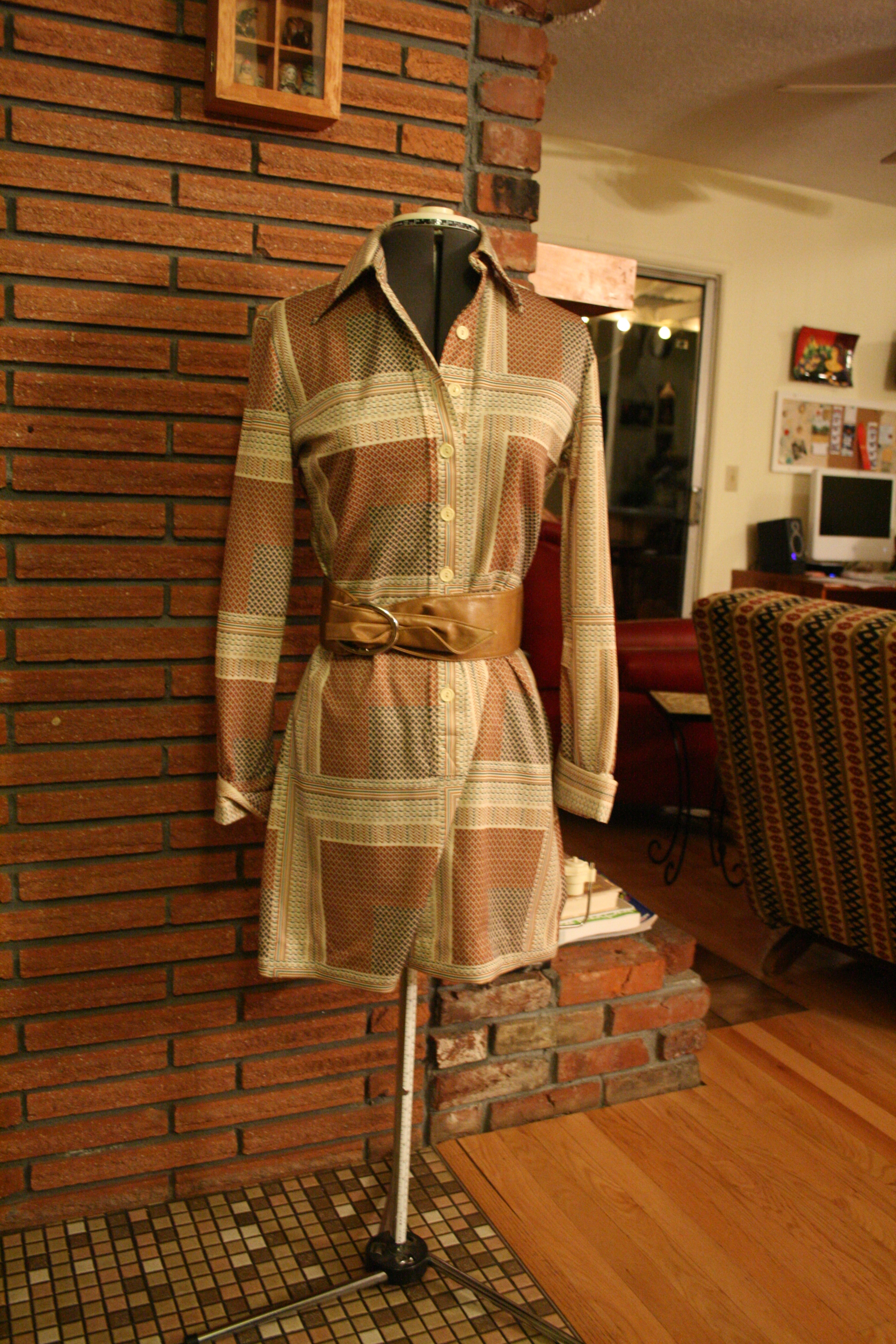 Pendleton dress, modeled by my trusty sewing form.