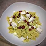 Cashew Pesto Pasta with Cranberries and Feta