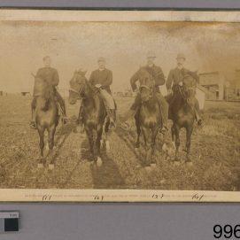 Louis Riel North West Rebellion 1885, 1885. Photograph, (13 x 21.3 cm). CMH no. 996.2.33